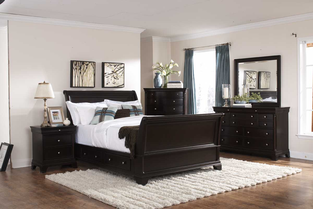 Homelegance Inglewood Sleigh Platform Bedroom Set
