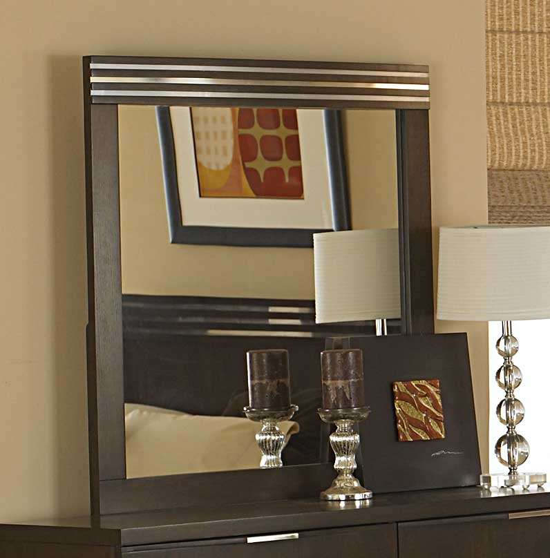 Homelegance Cologne Square Mirror in Smoky Brown