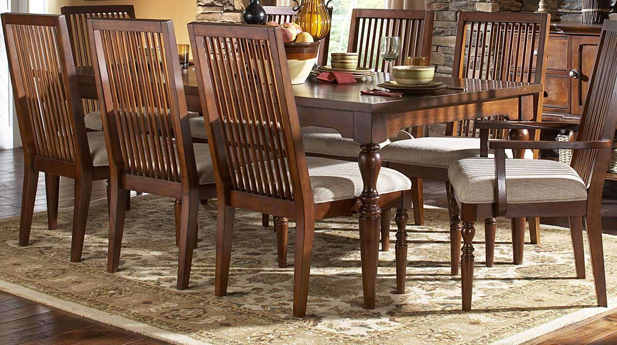 Homelegance Mission Bend Dining Table with 18in Leaf