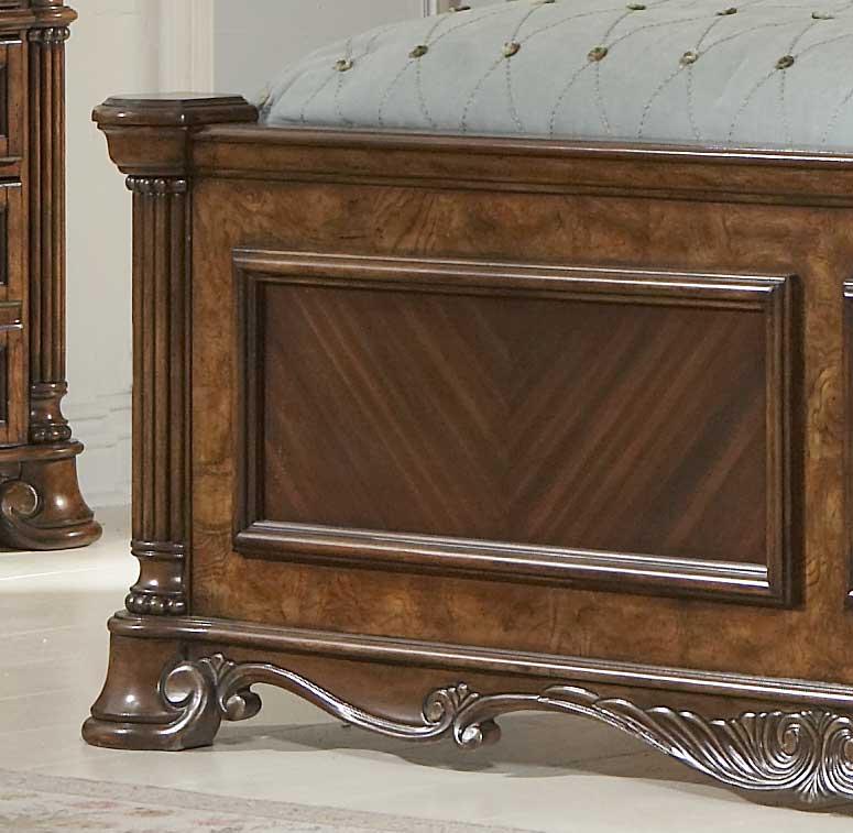 Homelegance Golden Eagle Bed Bi-Cast Leather