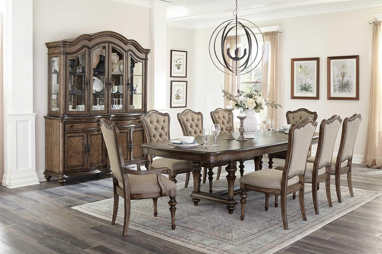 Homelegance Heath Court Dining Set - Brown Oak