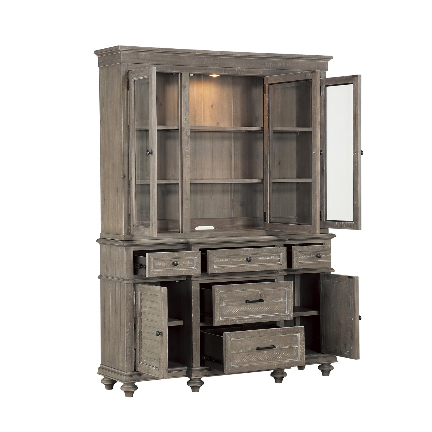 Homelegance Cardano China Cabinet - Driftwood Light Brown