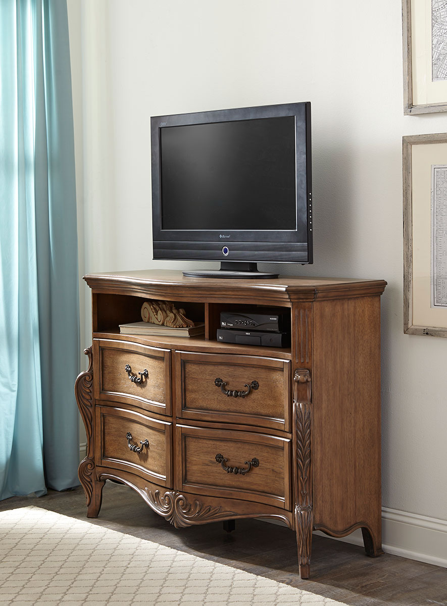 Homelegance Moorewood Park TV Chest - Pecan