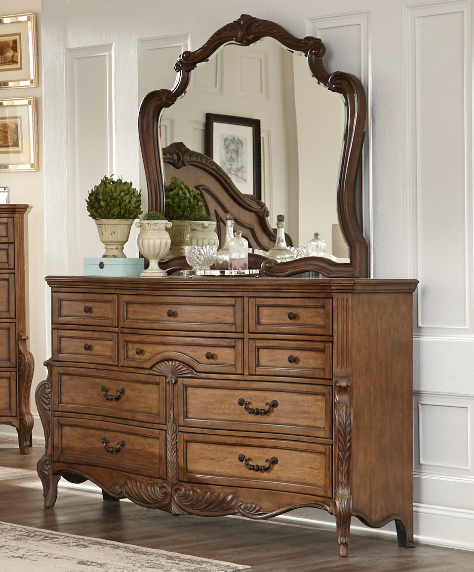 Homelegance Moorewood Park Dresser - Pecan