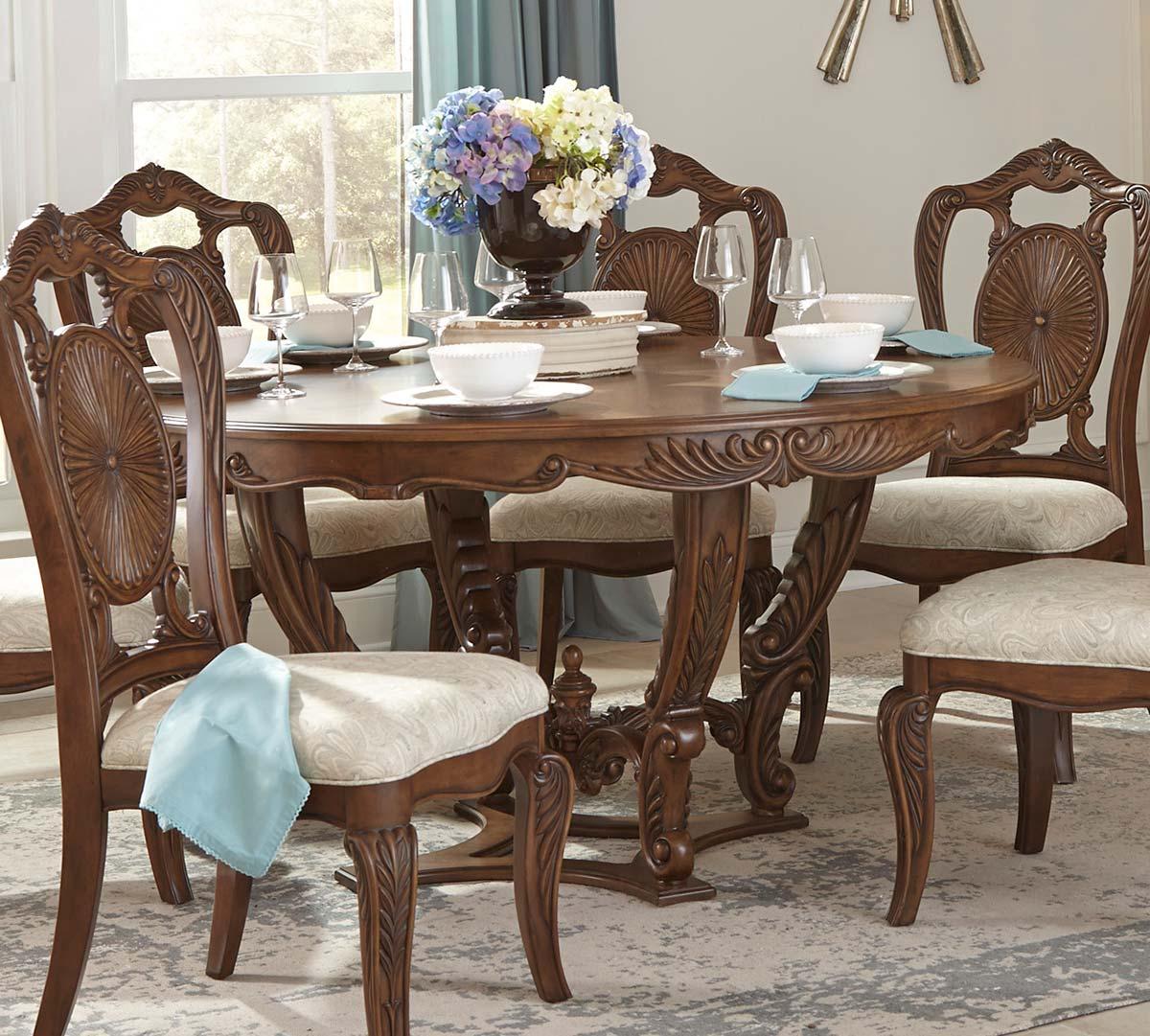 Homelegance Moorewood Park Round Dining Table - Pecan