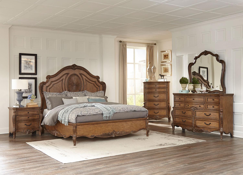 Homelegance Moorewood Park Low Profile Bedroom Set - Pecan