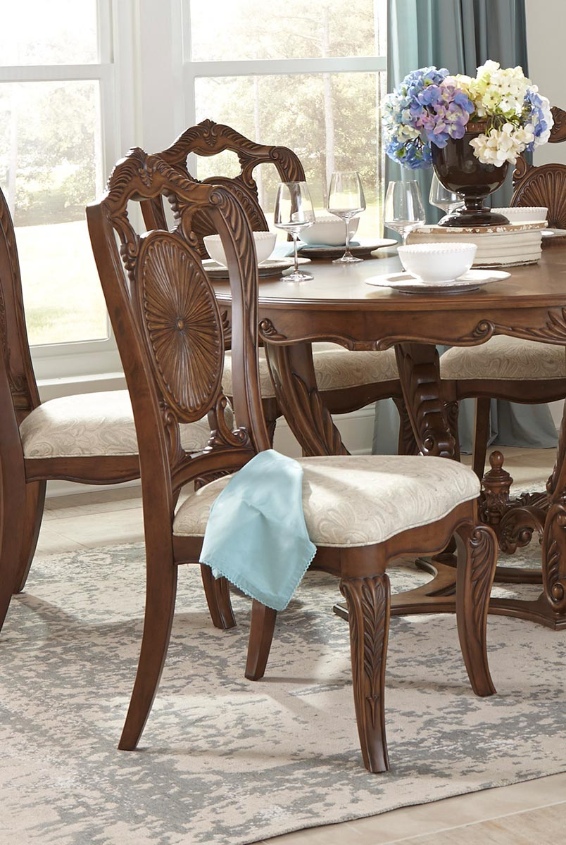 Homelegance Moorewood Park Side Chair - Pecan
