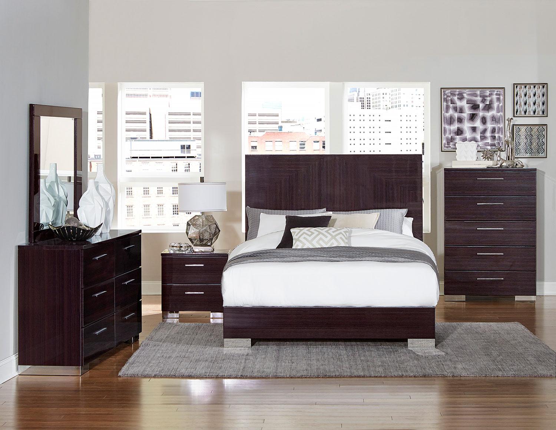 homelegance moritz bedroom set high gloss 1706 bedroom set at. Black Bedroom Furniture Sets. Home Design Ideas