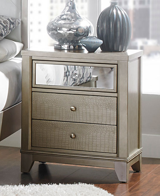 Homelegance Odelia Night Stand - Silver