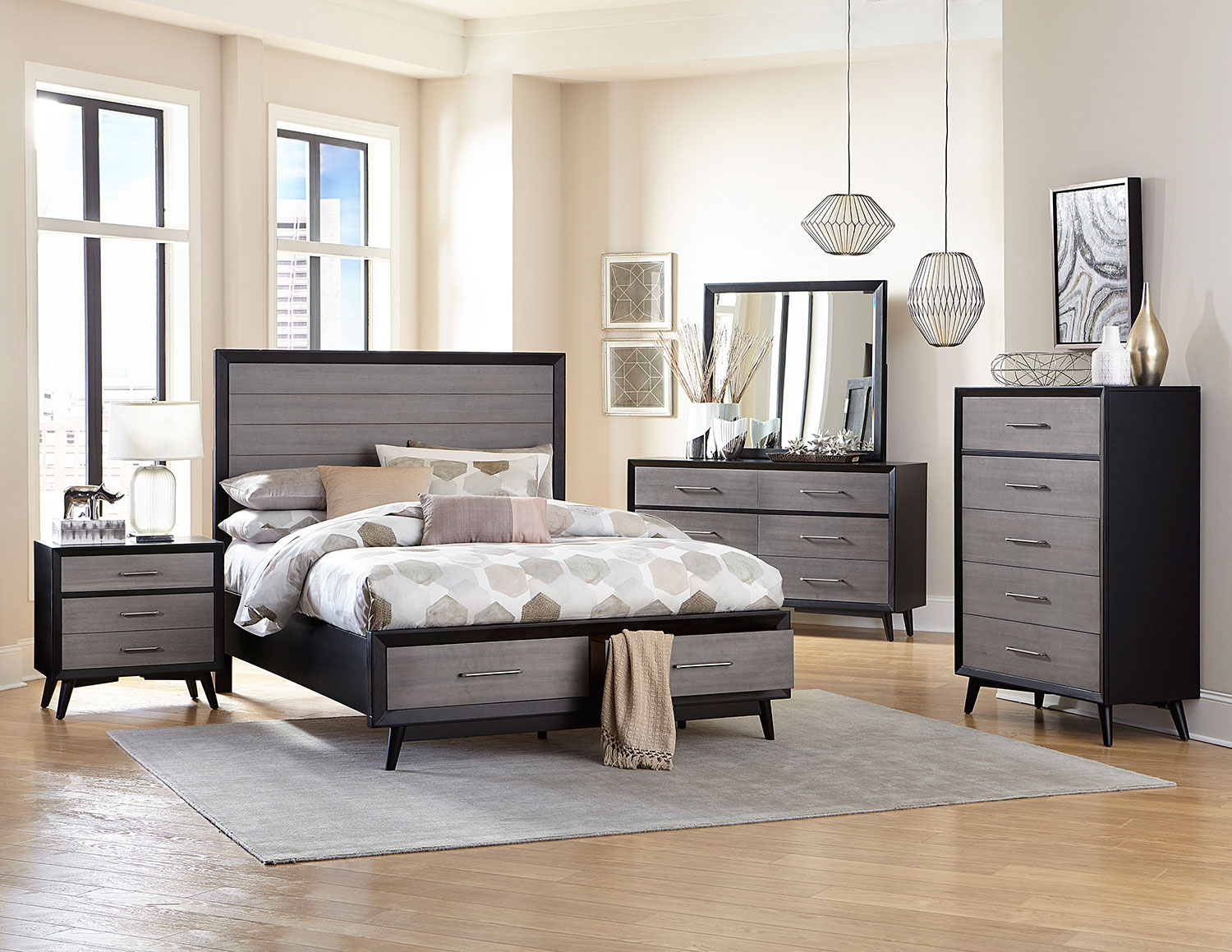 Homelegance Raku Bedroom Set - Barnwood Grey 1711-BEDROOM-SET at ...