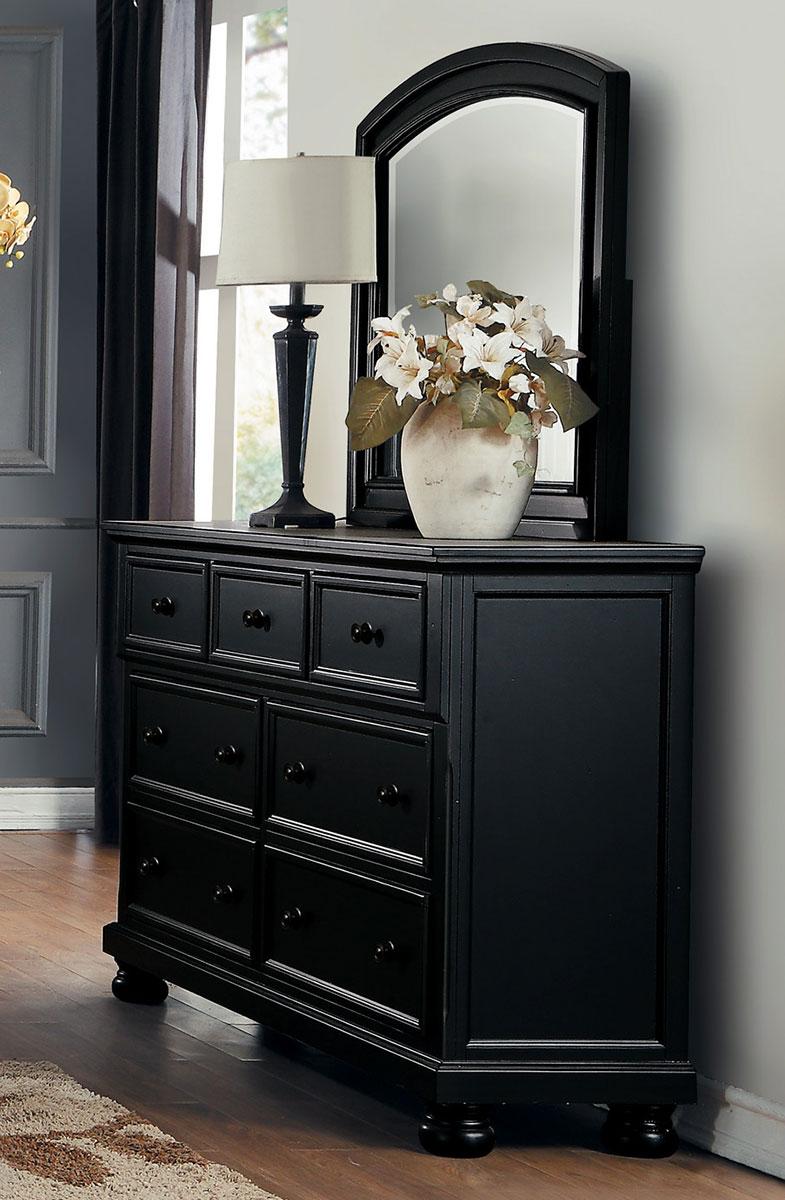 Homelegance Laurelin Dresser - Black Sand-Thru