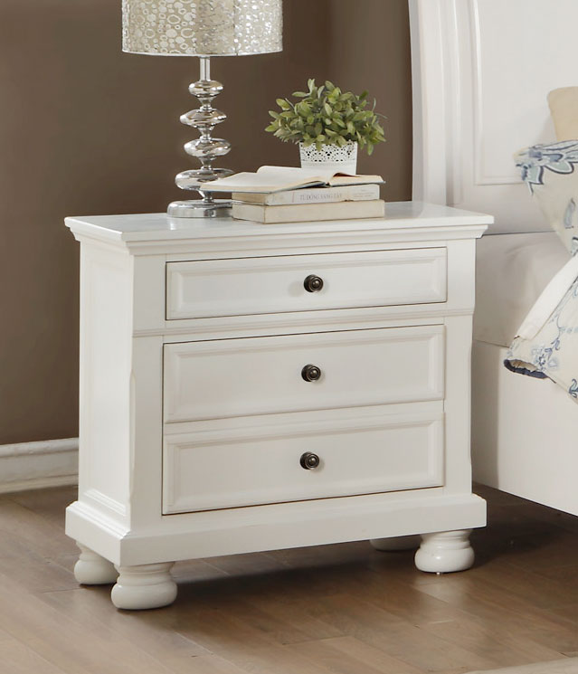 Homelegance Laurelin Night Stand - White Sand-Thru