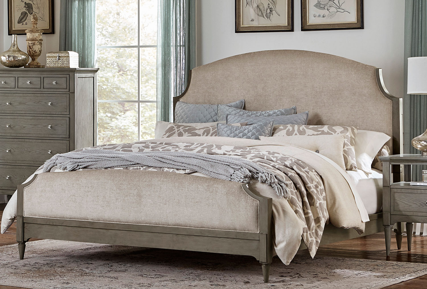 Homelegance Albright Upholstered Bed - Barnwood Grey