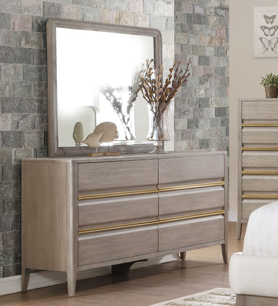 Homelegance Aristide Dresser - Gold and Weathered Grey