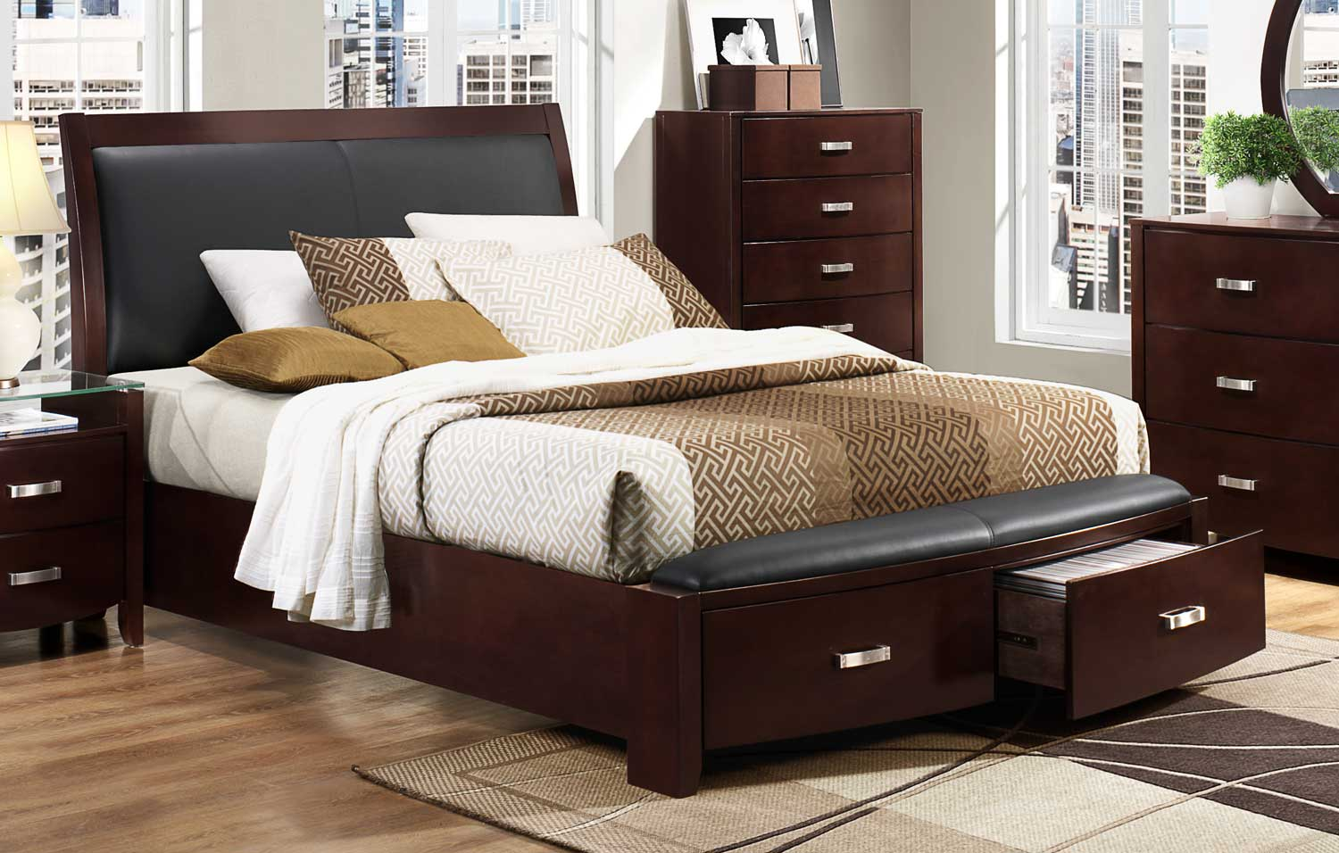 Picture of: Homelegance Lyric Platform Bed Dark Espresso 1737nc 1 At Homelement Com
