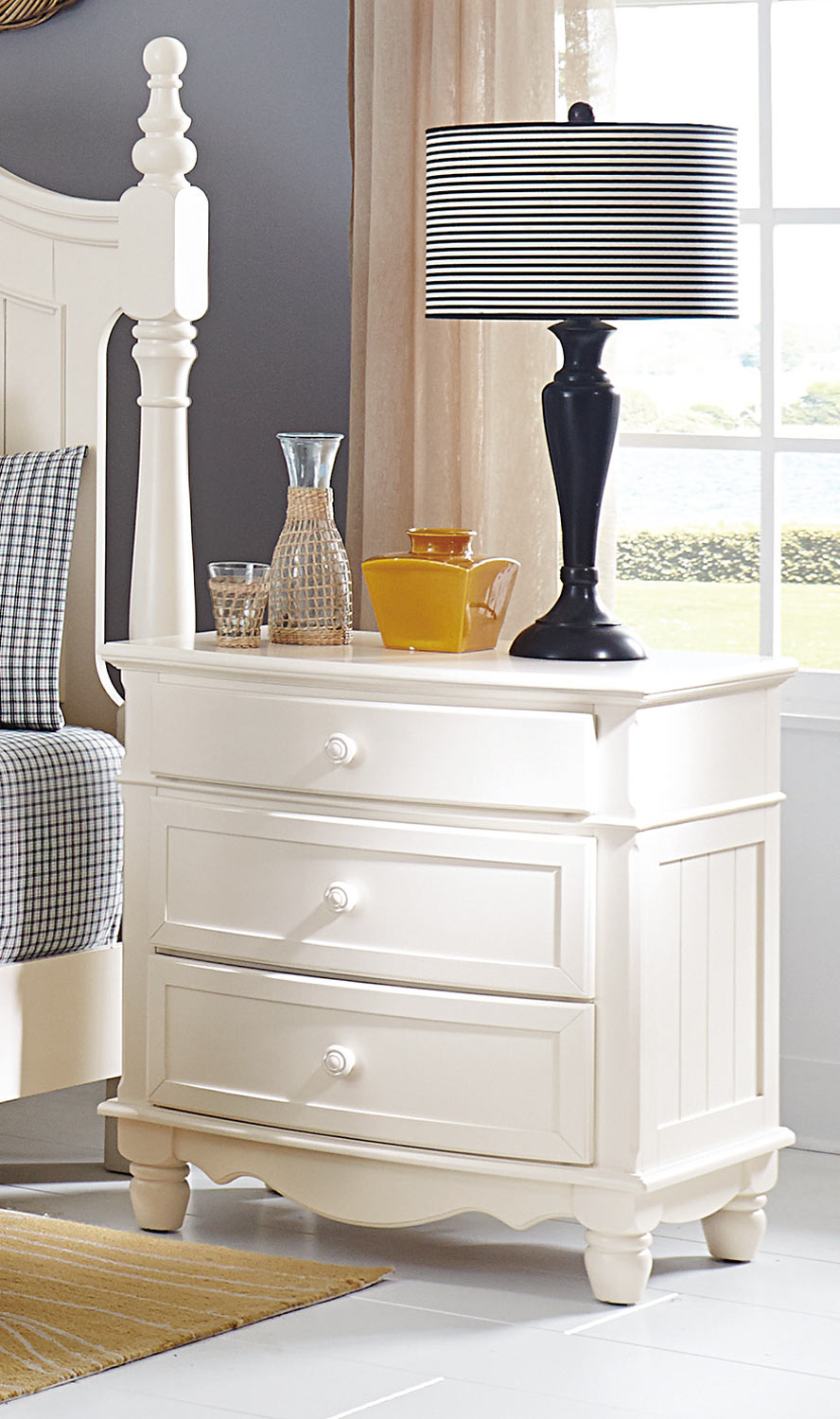 Homelegance Clementine Night Stand - White
