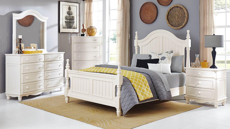 Homelegance clementine bedroom set white 1799 bedroom for Bedroom furniture for less