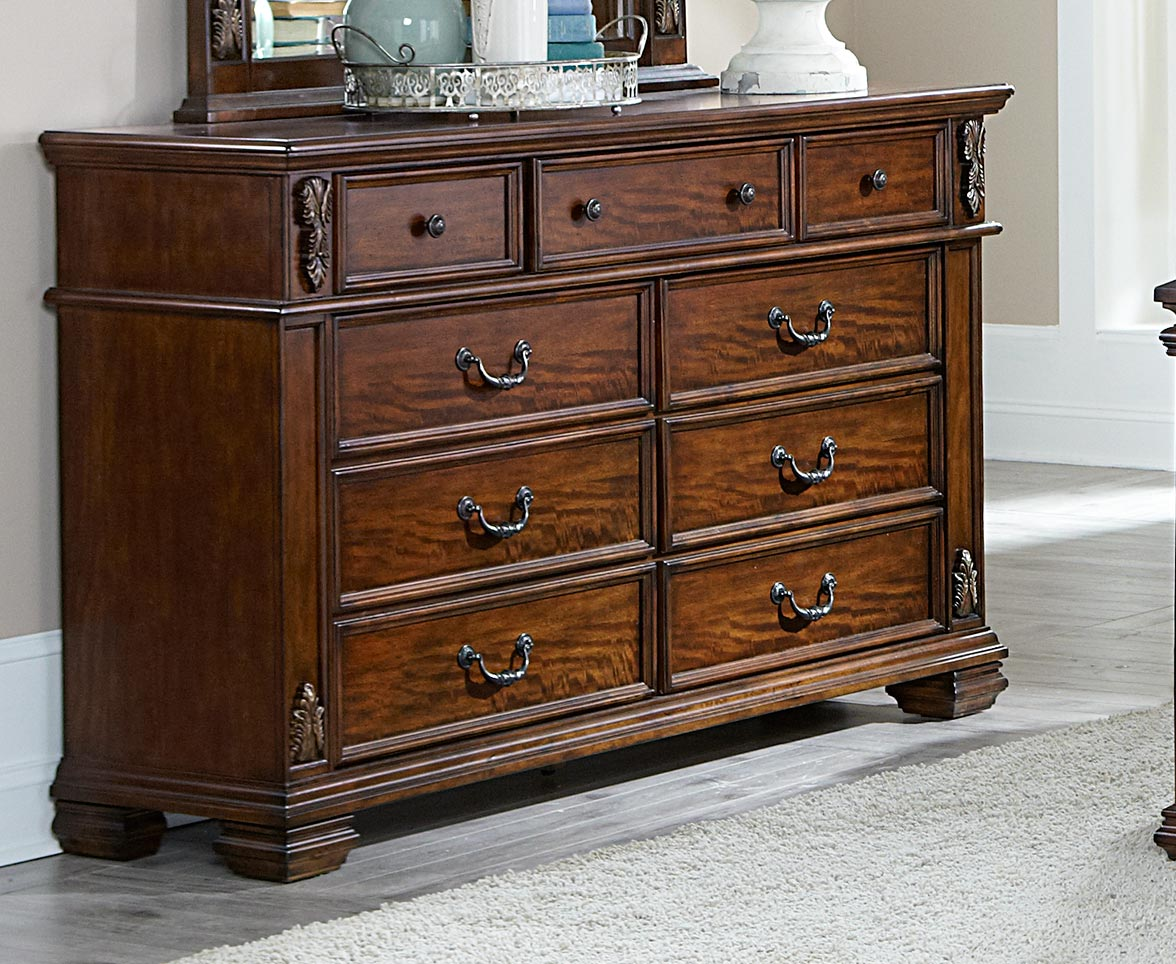 Homelegance Donata Falls Dresser - Warm Brown