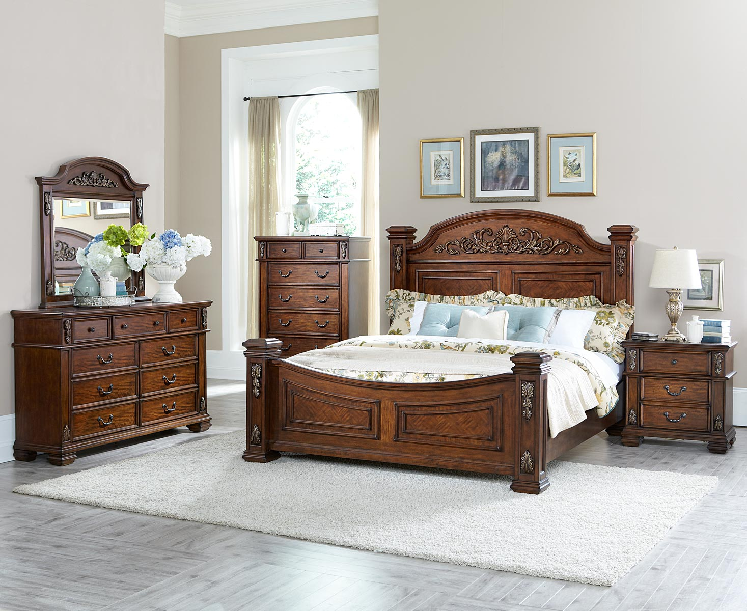 Homelegance Donata Falls Bedroom Set - Warm Brown