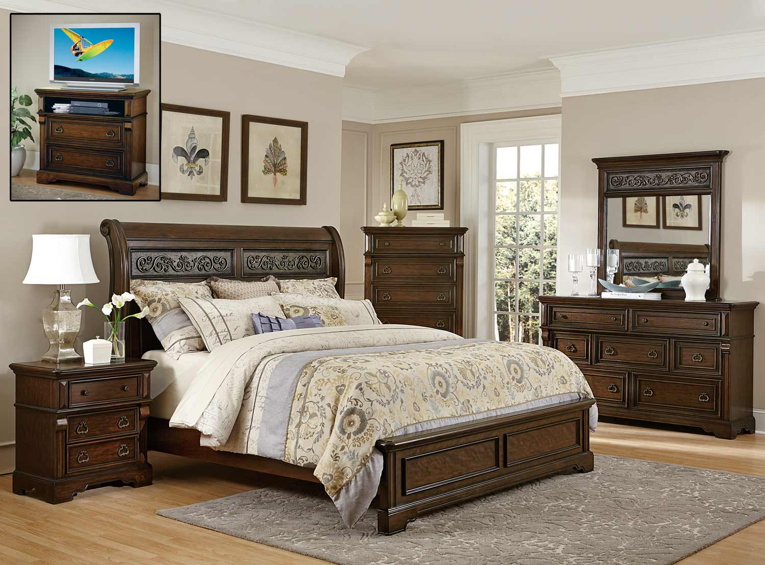 Homelegance Calloway Park Bedroom Set - Warm Cherry