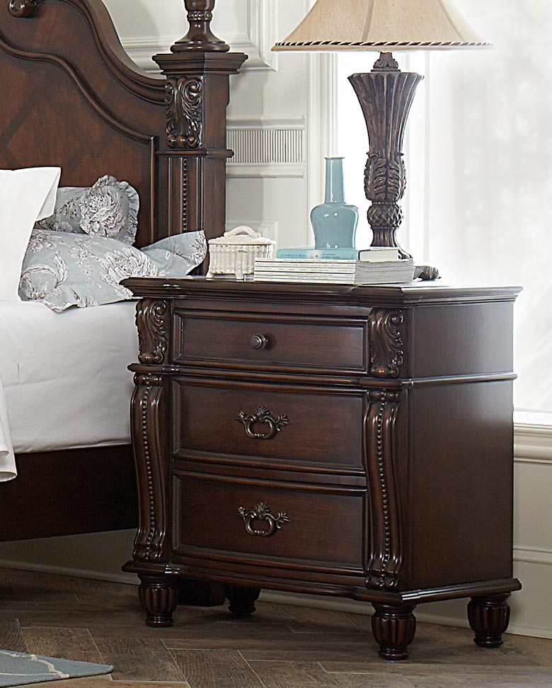 Homelegance Hadley Row Night Stand - Cherry