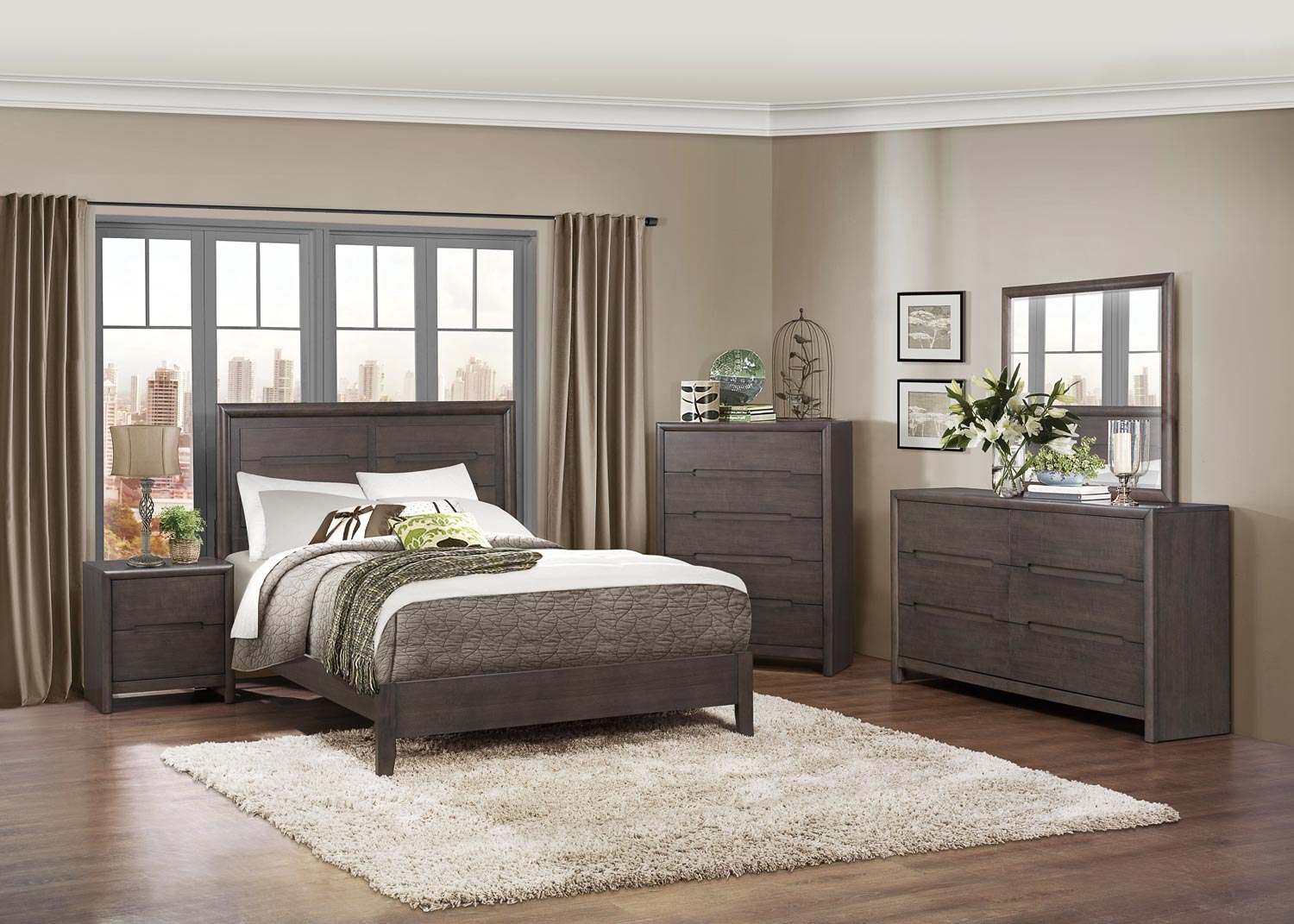 Homelegance Lavinia Bedroom Collection - Weathered Grey