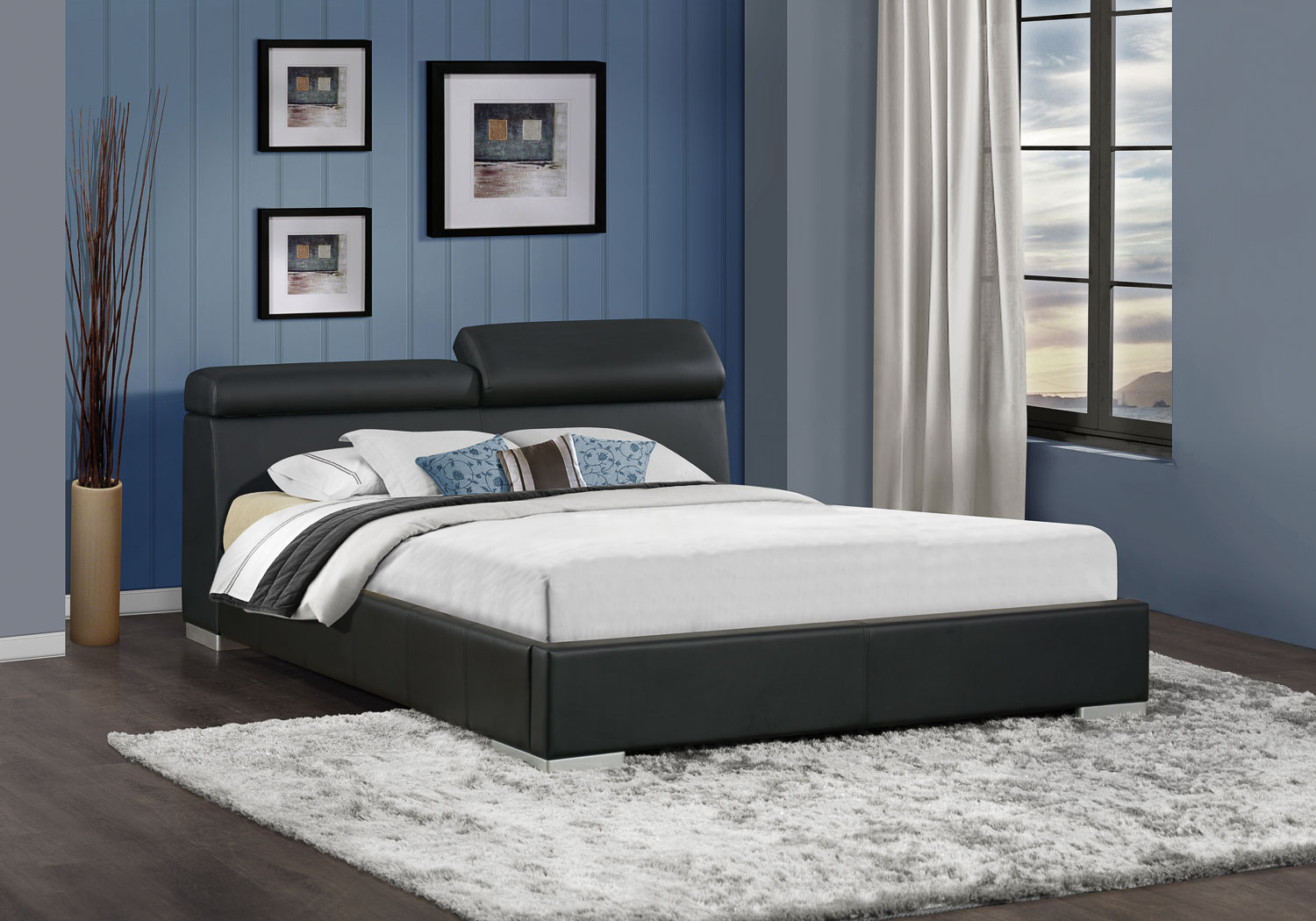 Homelegance Myall Upholstered Bed