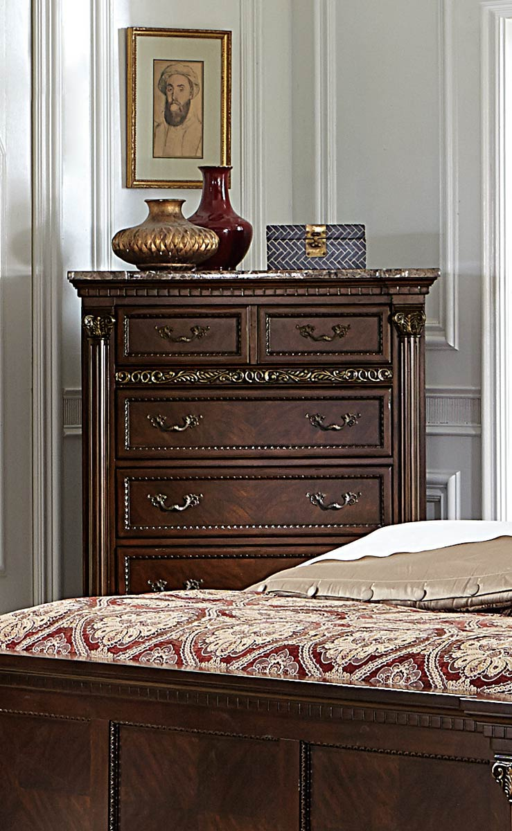 Homelegance Russian Hill Chest - Warm Cherry