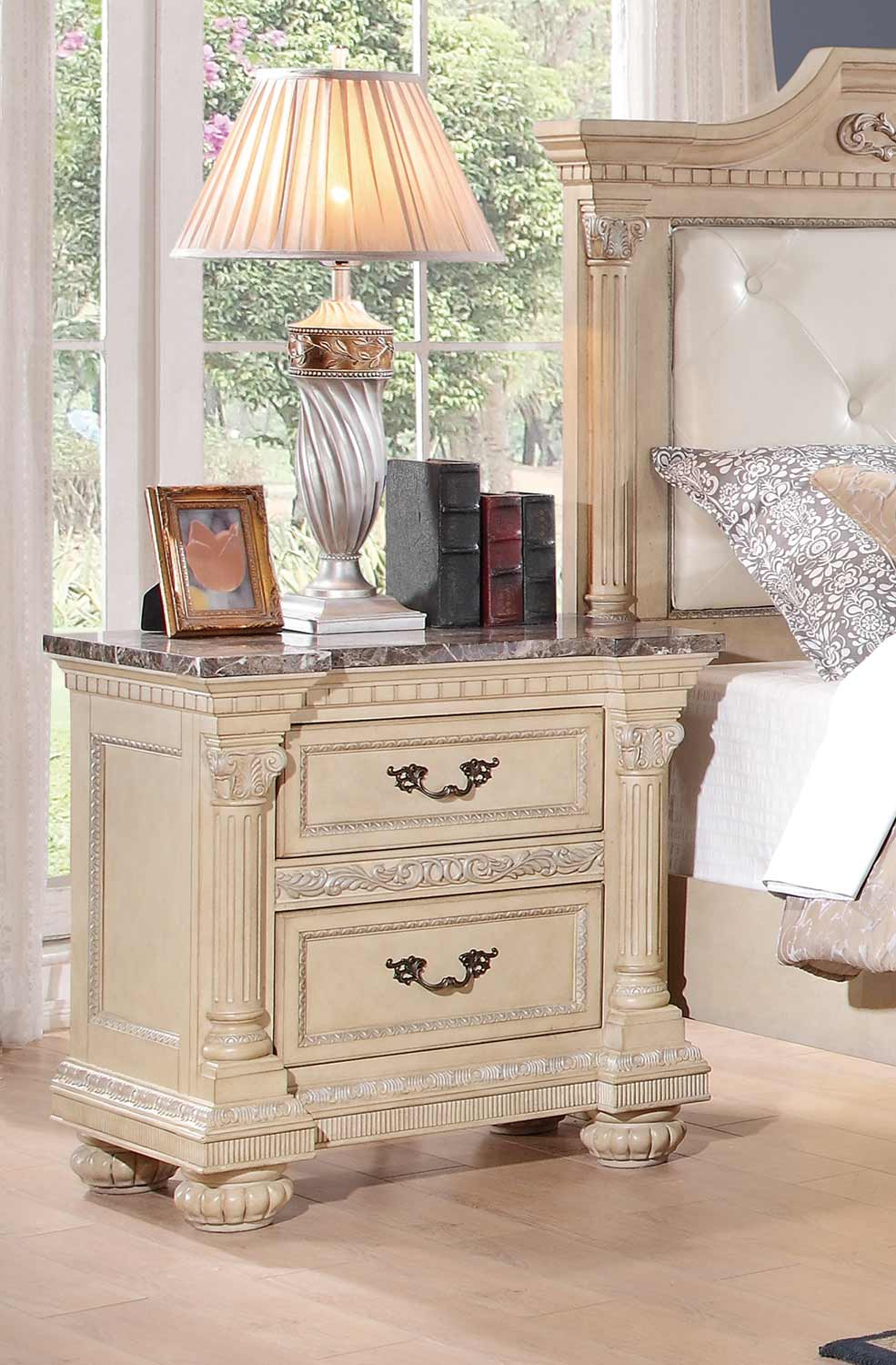 Homelegance Russian Hill Night Stand - Antique White