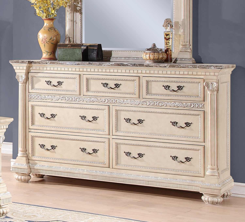 Homelegance Russian Hill Dresser - Antique White