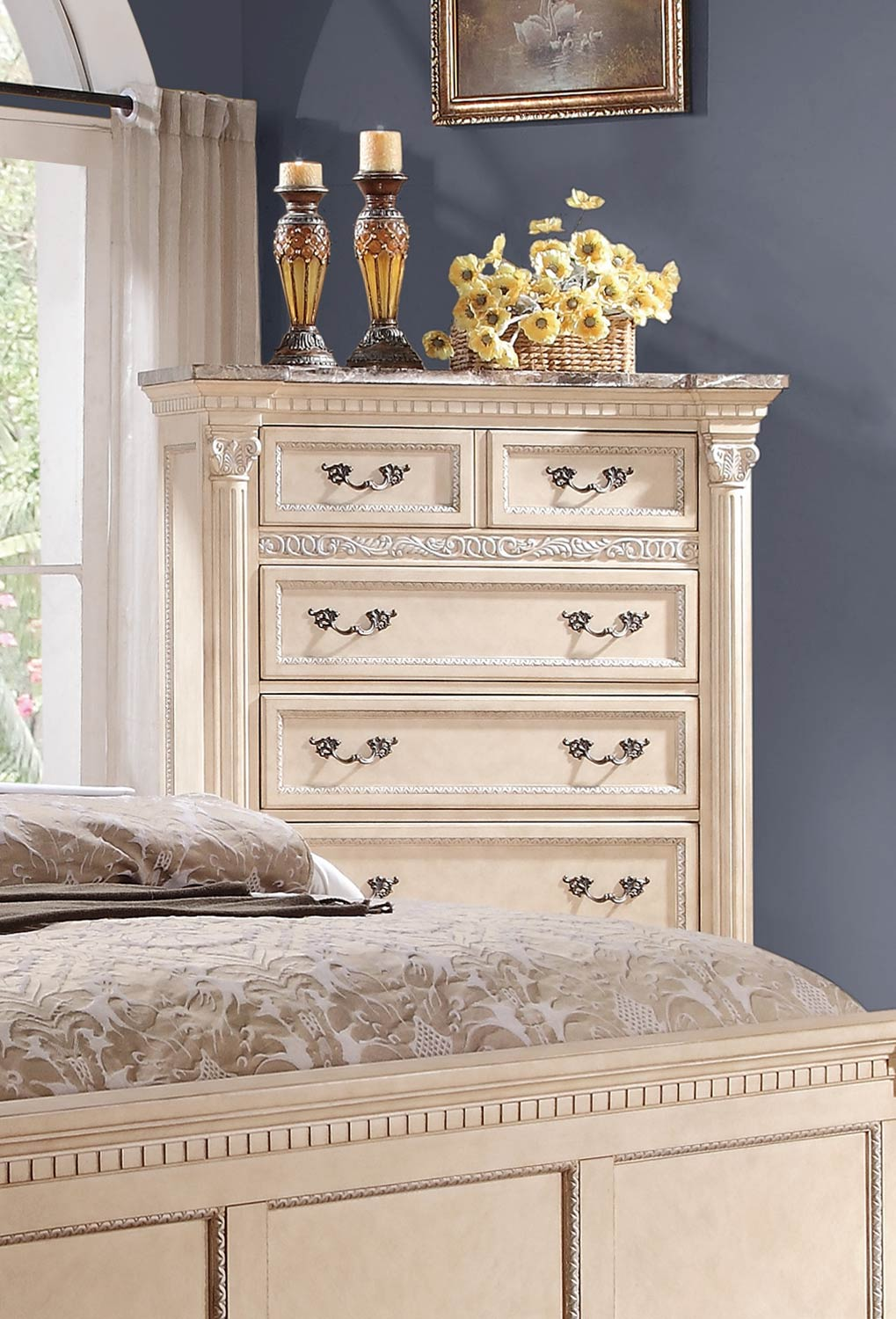 Homelegance Russian Hill Chest - Antique White