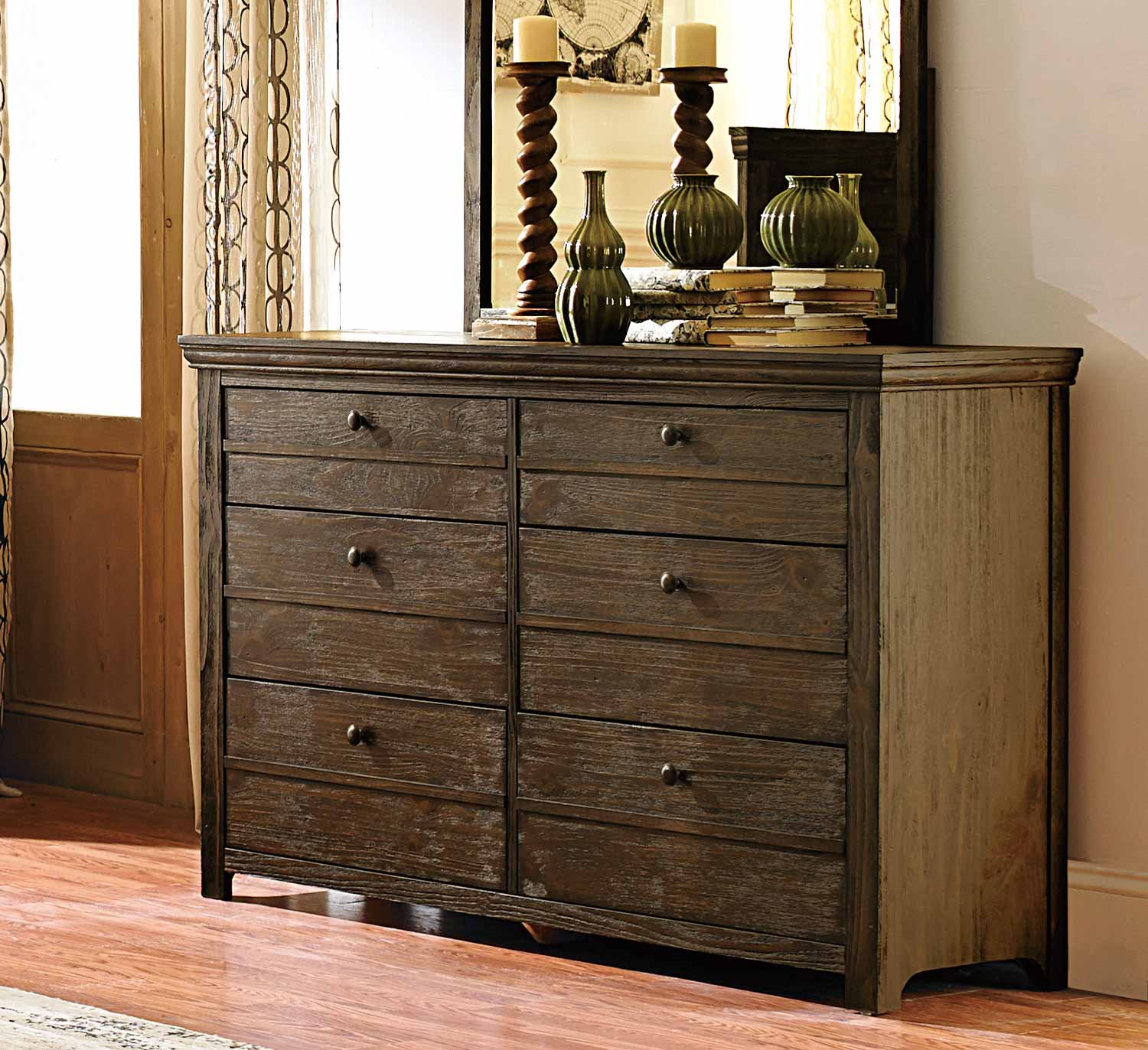 Weathered Gray Bedroom Furniture : Homelegance hardwin bedroom set weathered grey rustic