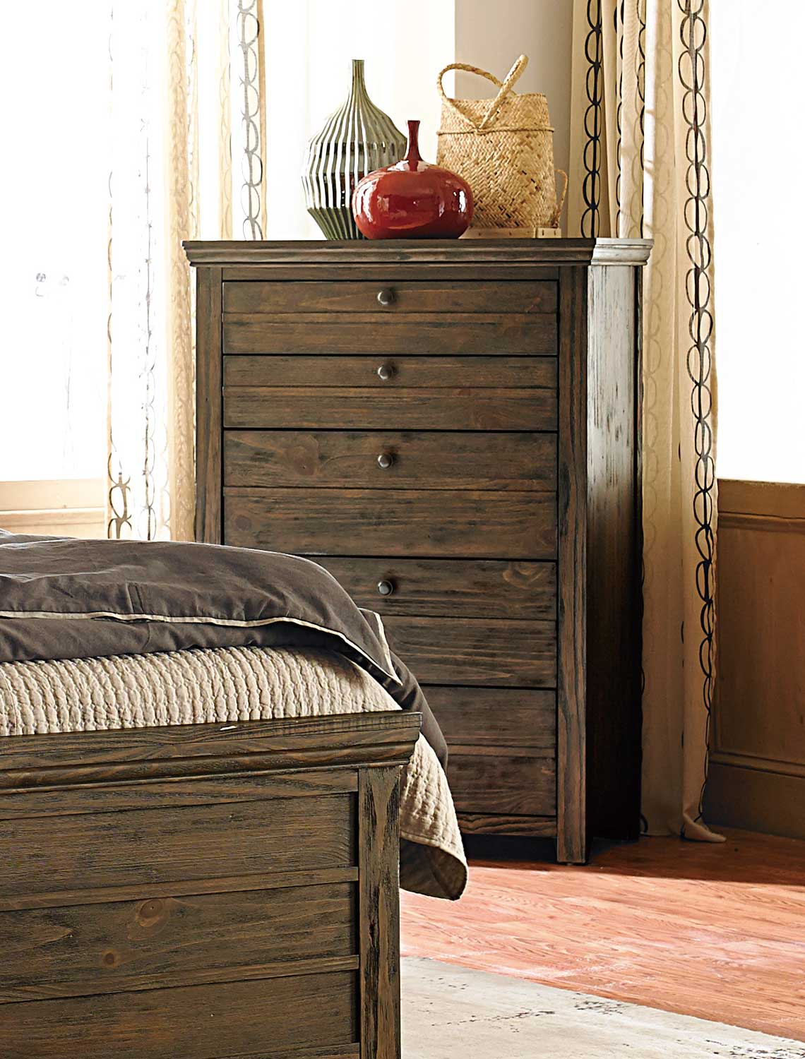Homelegance Hardwin Chest - Weathered Grey Rustic Brown