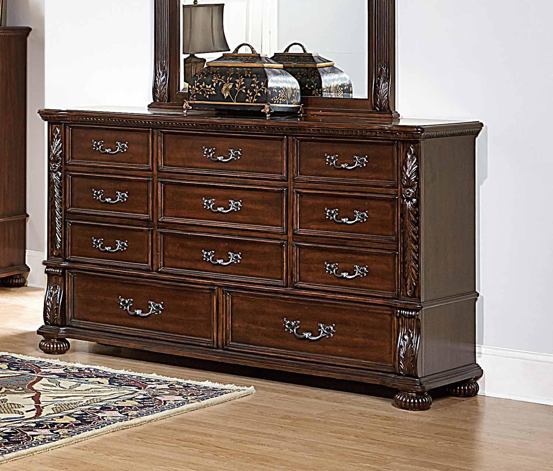 Homelegance Augustine Court Dresser - Rich Brown Cherry