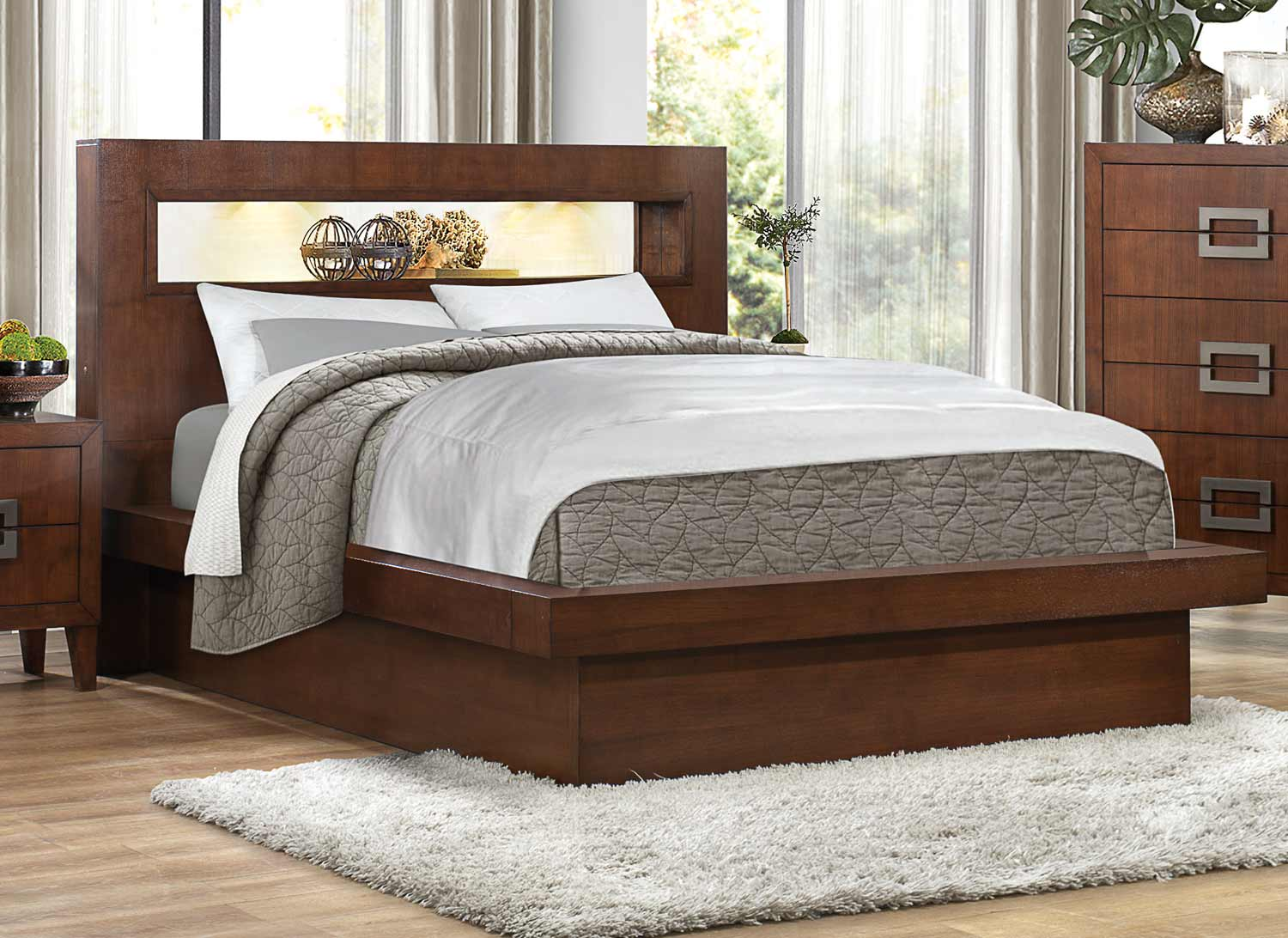 Homelegance Arata Platform Bed - Cappucino Brown