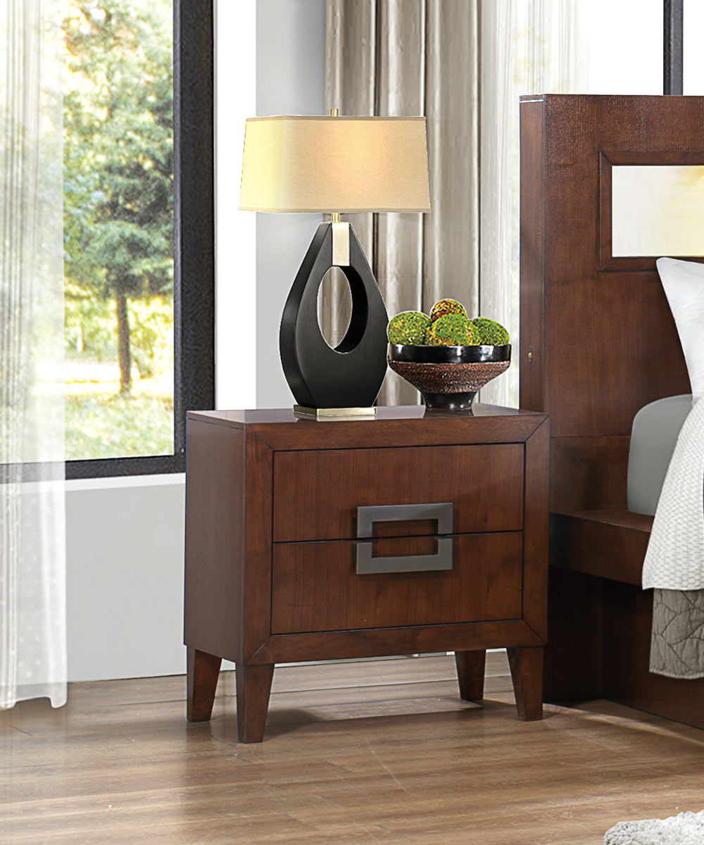 Homelegance Arata Night Stand - Cappucino Brown