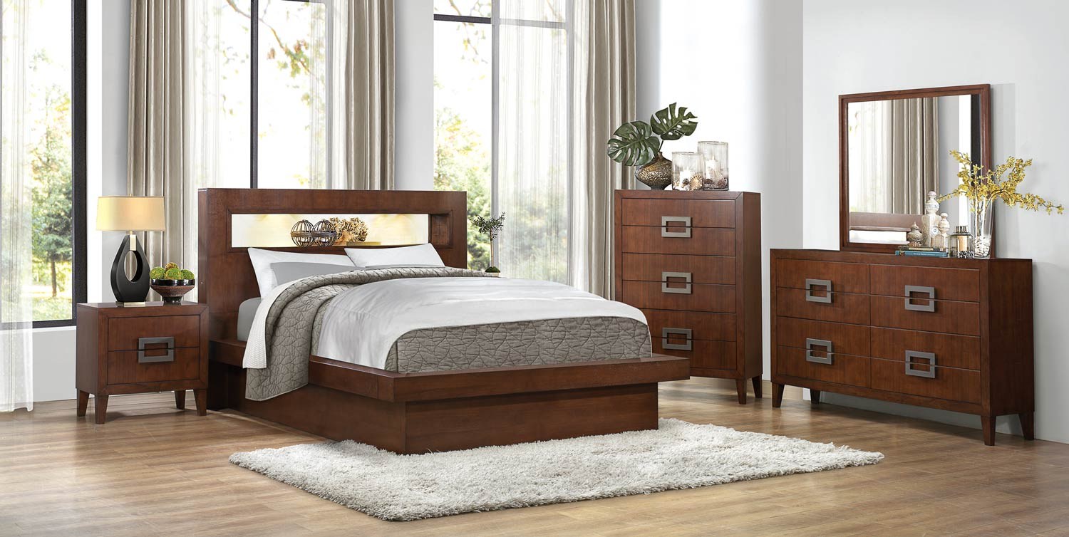 homelegance arata bedroom set cappucino brown 1817