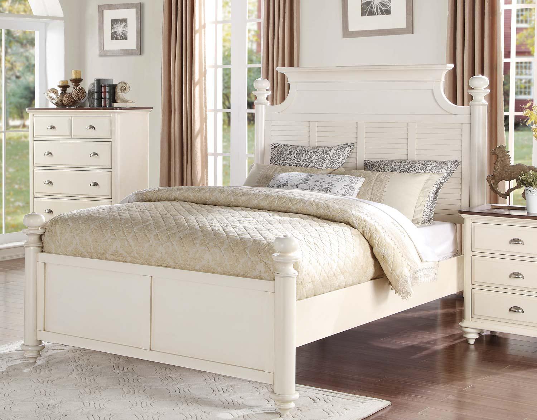 Homelegance Floresville Platform Bed - Antique White