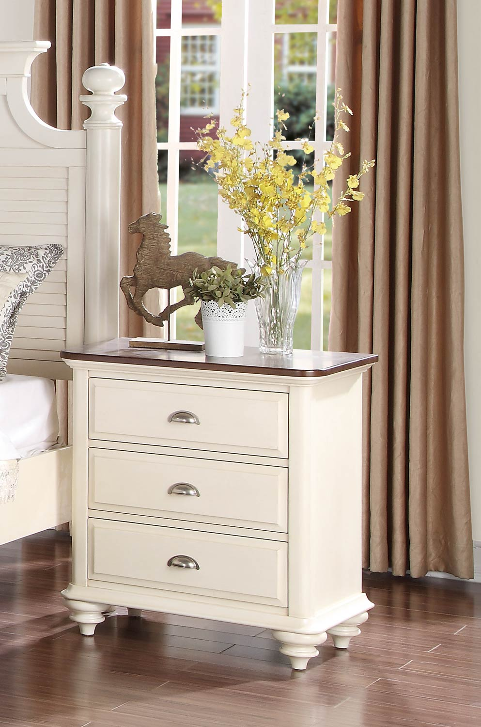 Homelegance Floresville Night Stand - Antique White