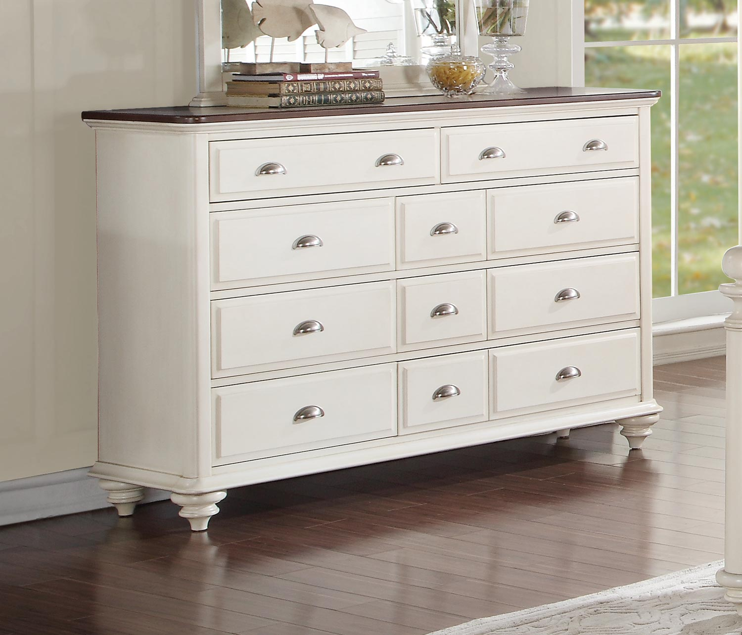 Homelegance Floresville Dresser - Antique White