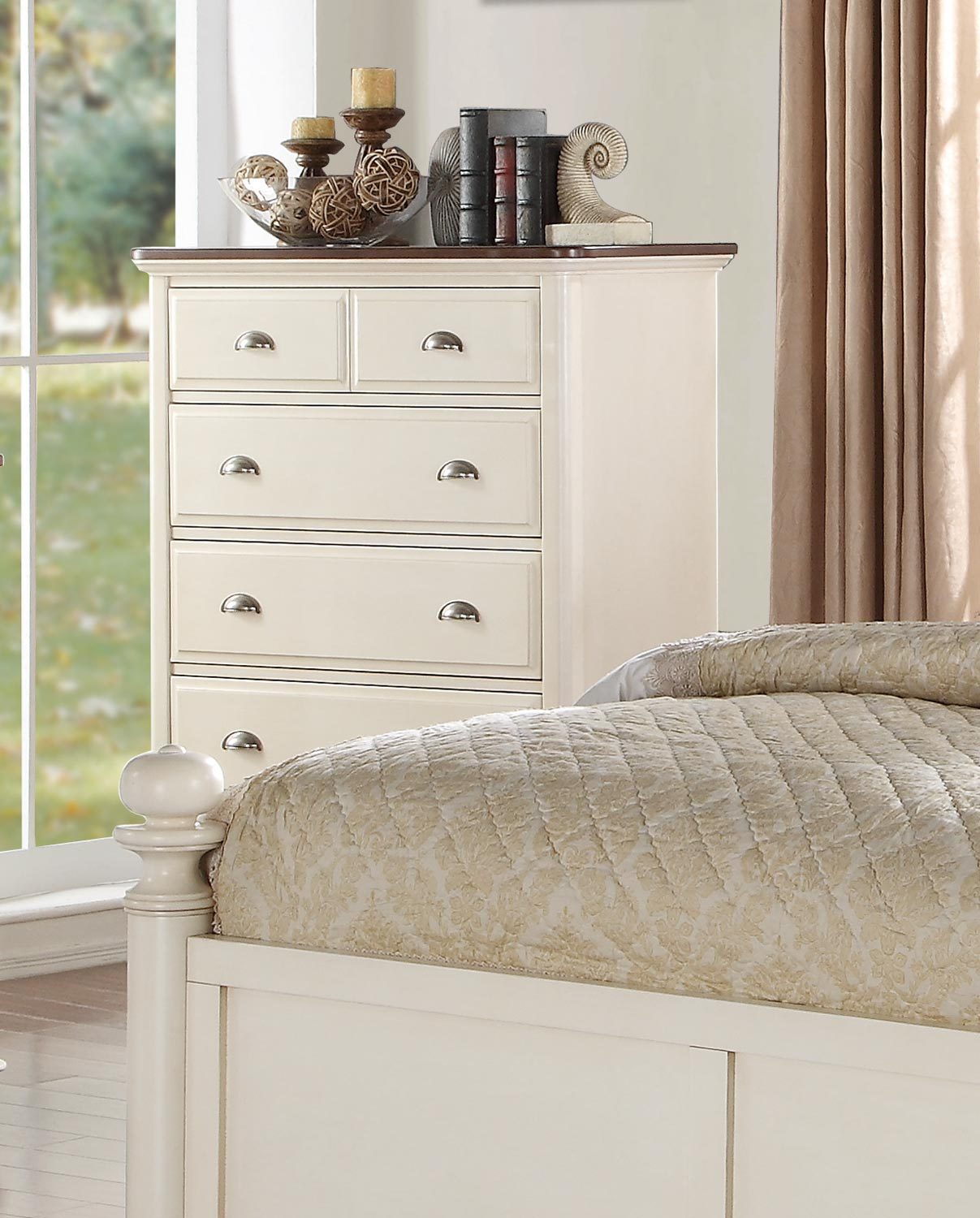 Homelegance Floresville Chest - Antique White