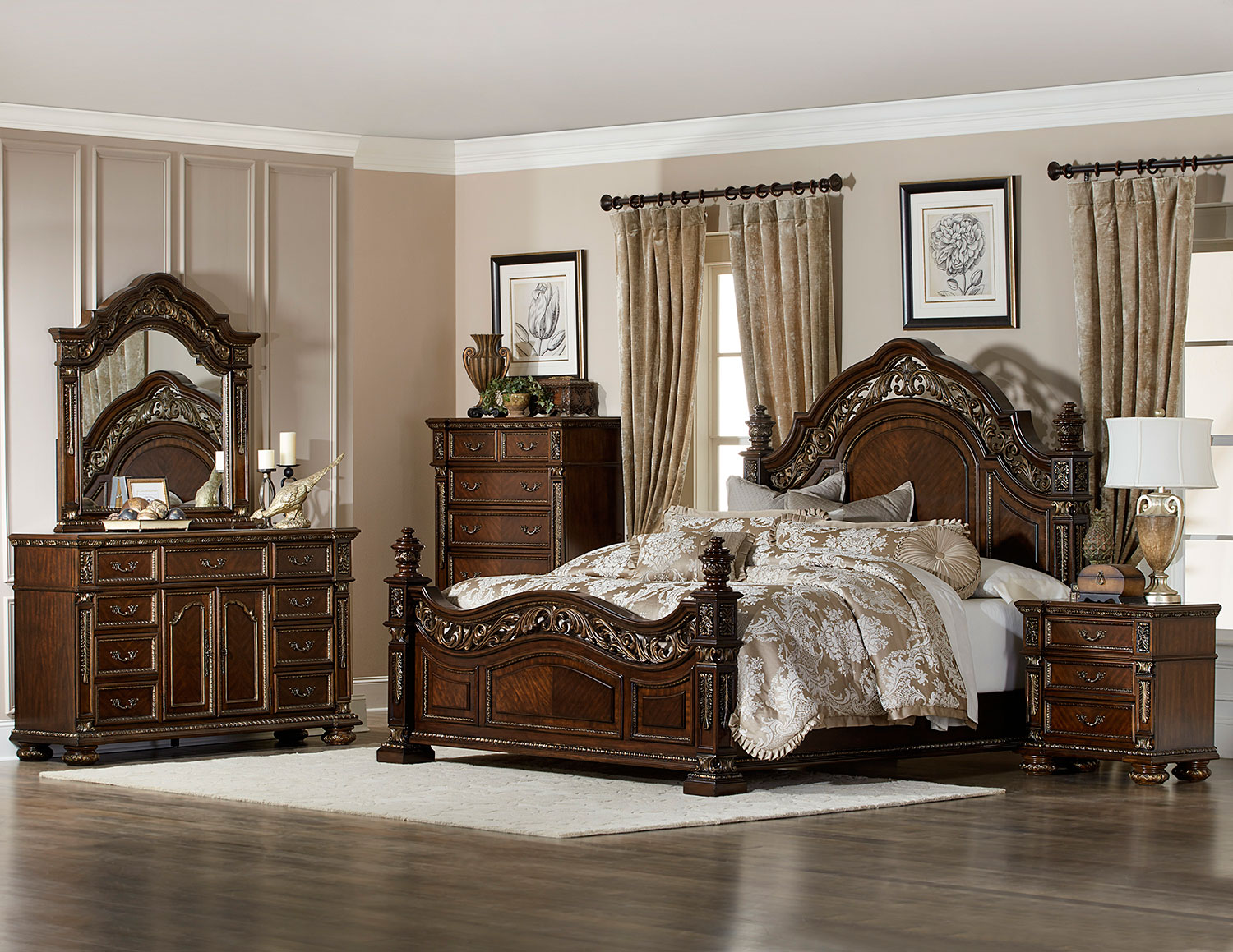 Homelegance Catalonia Bedroom Set - Cherry