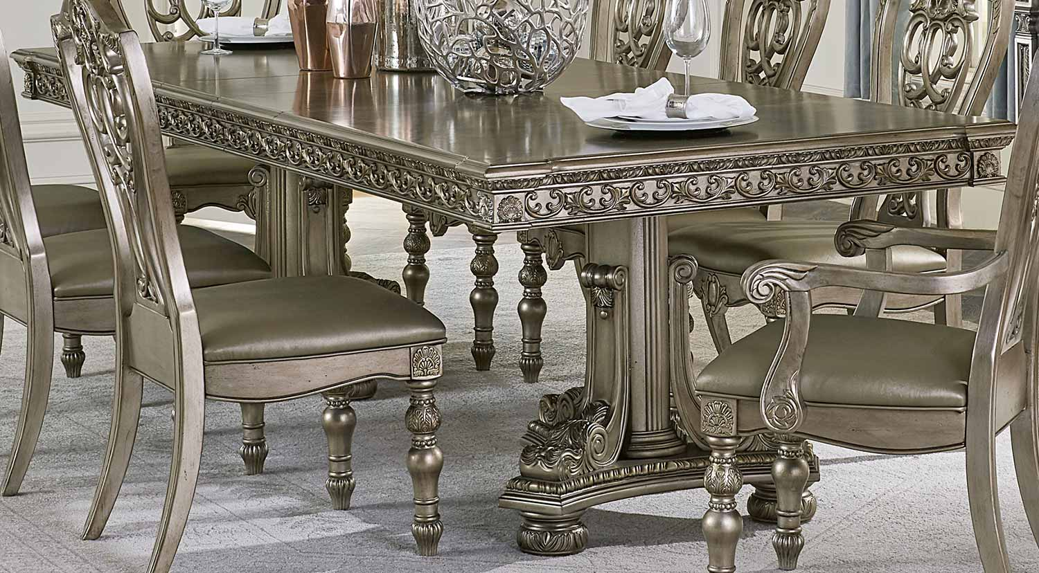 Homelegance Catalonia Dining Table - Platinum Gold