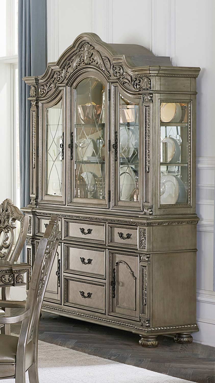Homelegance Catalonia China Cabinet - Platinum Gold