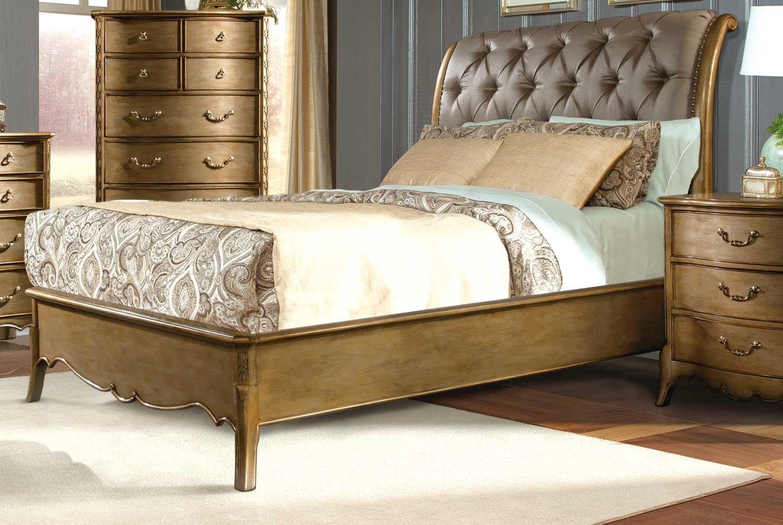 Homelegance Chambord Upholstered Bed - Champagne Gold