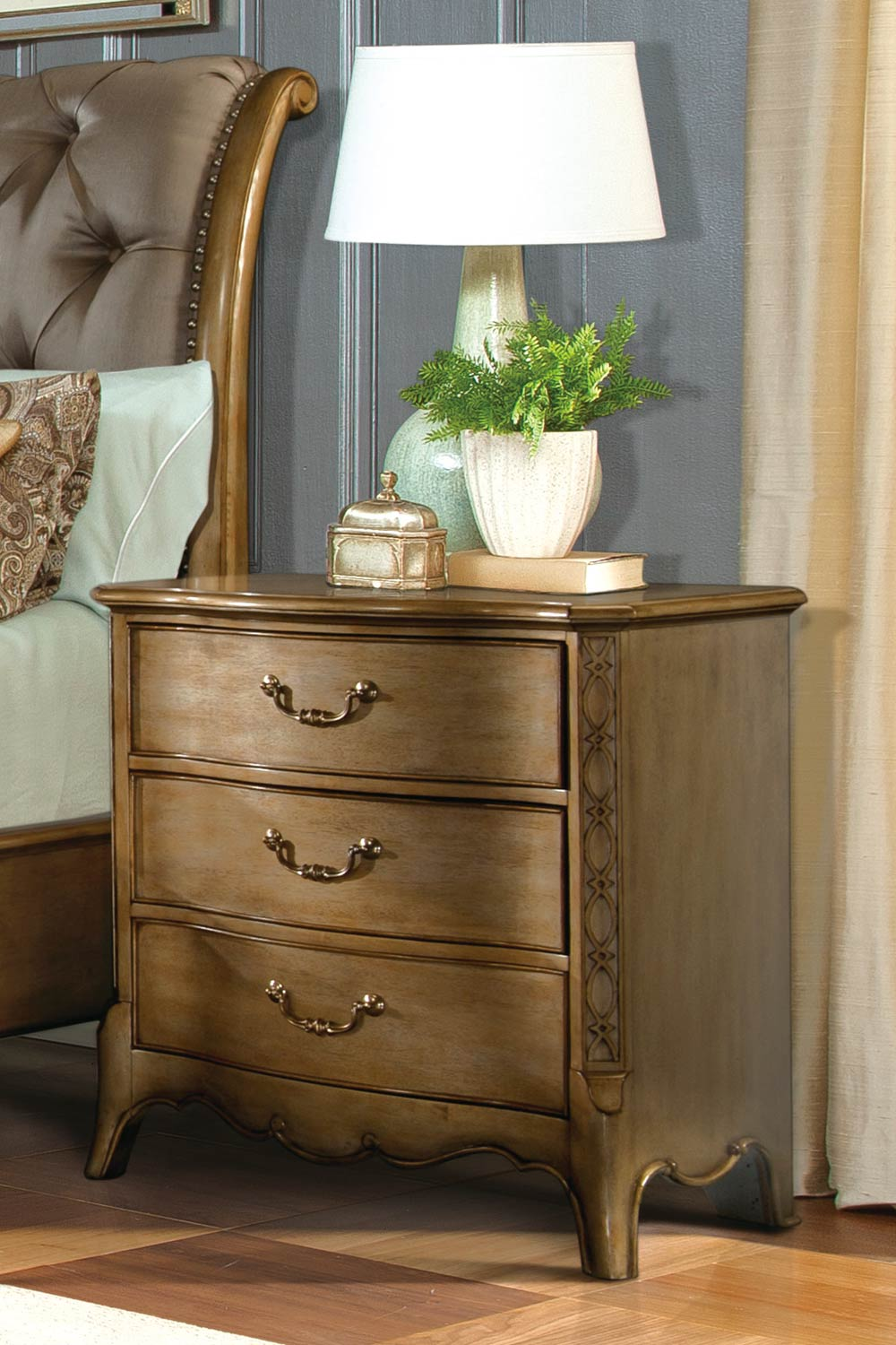 Homelegance Chambord Night Stand - Champagne Gold
