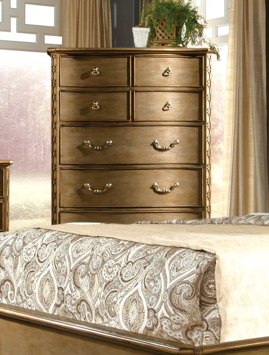 Homelegance Chambord Chest - Champagne Gold