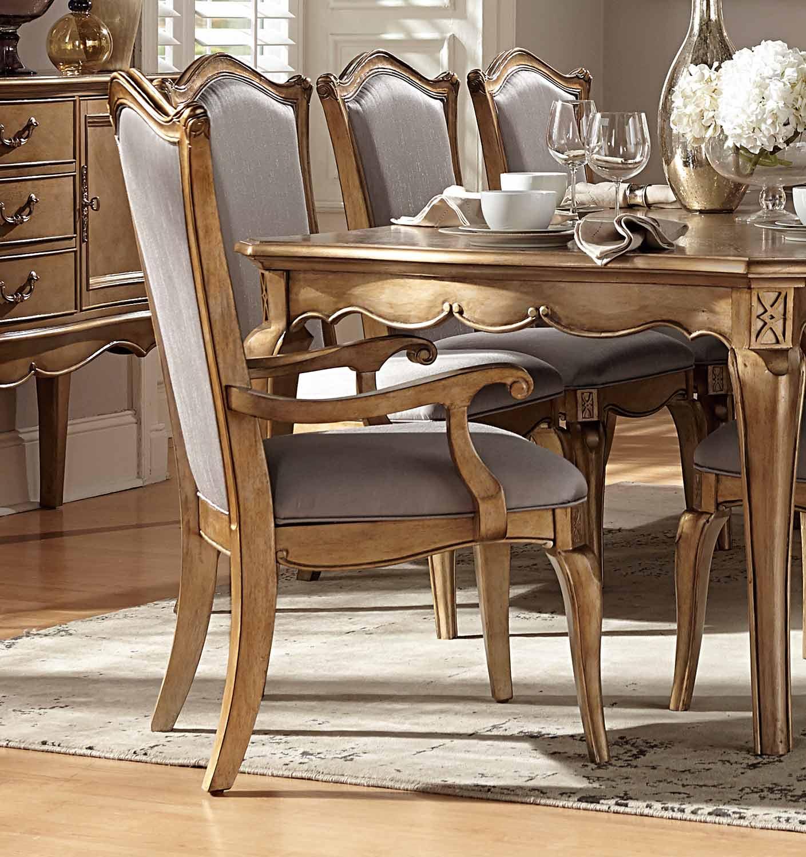 Homelegance Chambord Arm Chair - Antique Gold