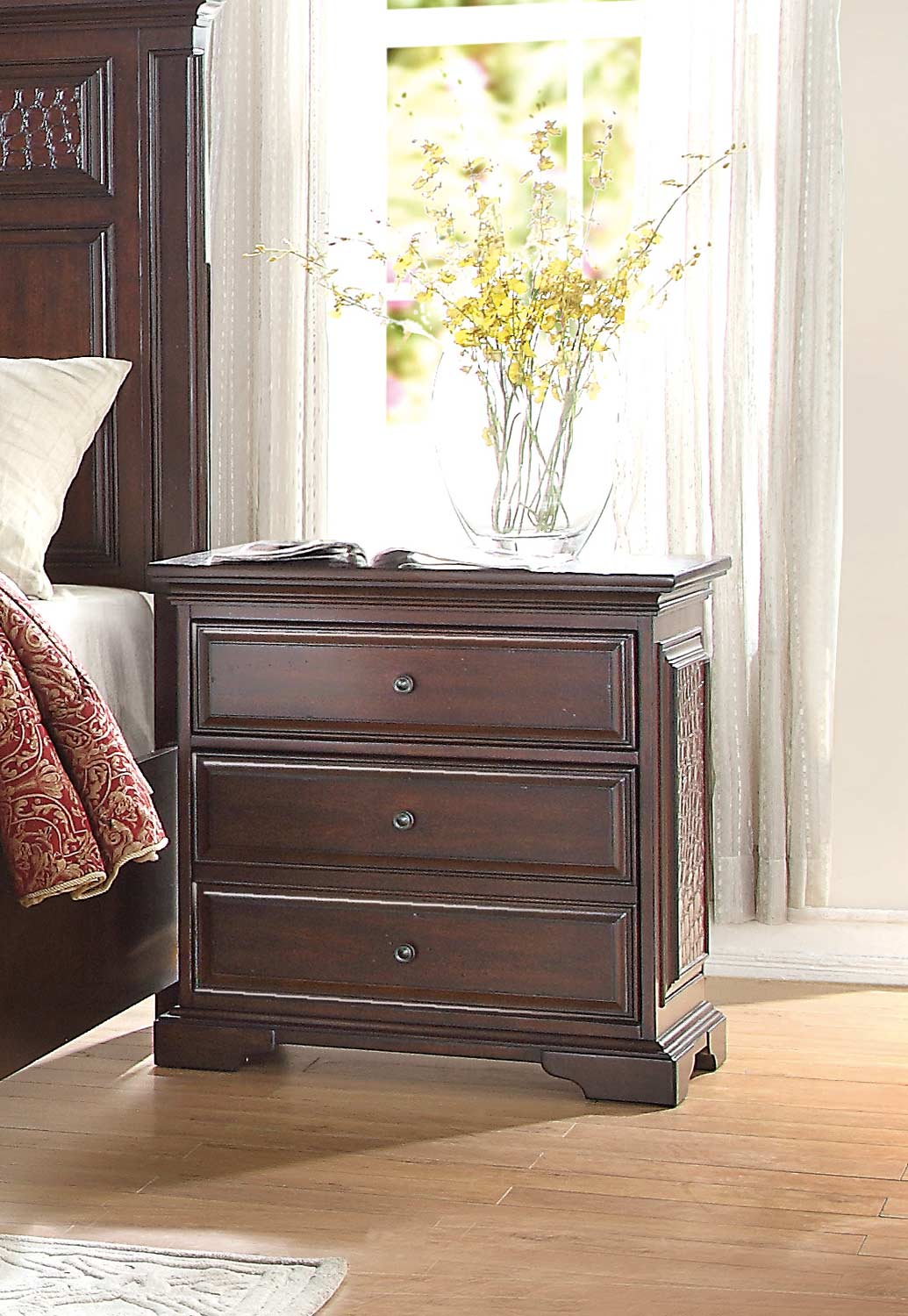 Homelegance Cranfills Night Stand - Cherry