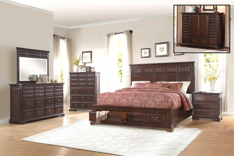 Homelegance Cranfills Bedroom Set - Cherry